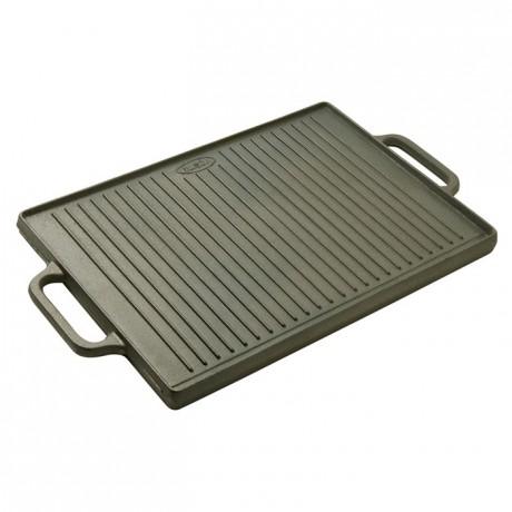 Reversible plancha/griddle cast iron 500 x 350 mm