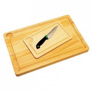 Beech chopping board with groove 350 x 210mm