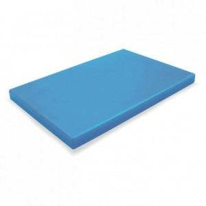 Chopping board PEHD 500 blue 600 x 400 x 20 mm
