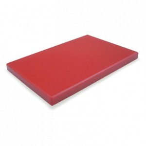 Chopping board PEHD 500 red 600 x 400 x 20 mm