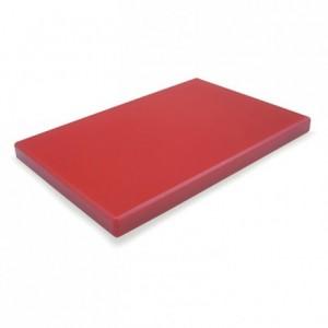 Planche à découper PEHD 500 rouge 600 x 400 mm