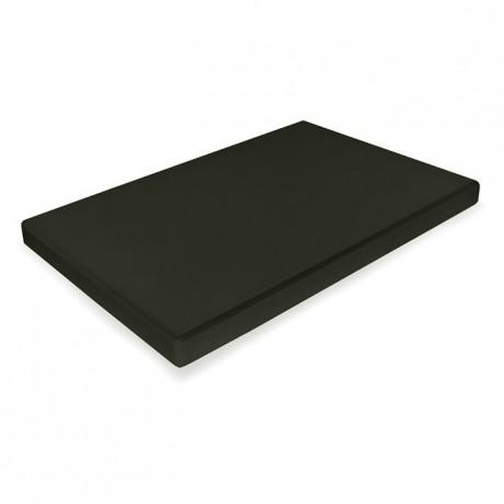 Planche à découper PEHD 500 noir 530 x 325 mm