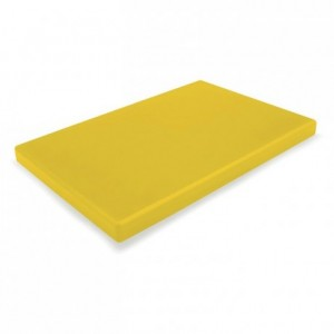 Chopping board PEHD 500 yellow 600 x 400 x 20 mm
