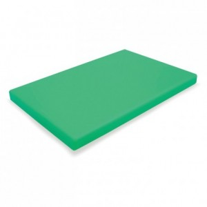 Chopping board PEHD 500 green 600 x 400 x 20 mm