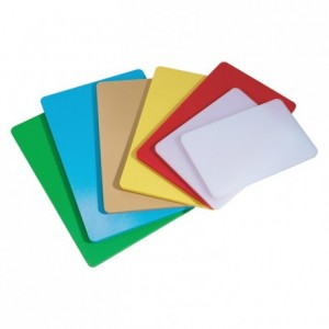 Chopping board LDPE white with handle 370 x 210 x 15 mm