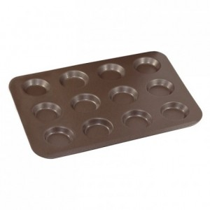 12-cup tartlet pan non-stick Ø80 mm (pack of 3)