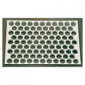 Plain tartlets 95 cutter sheets ABS Ø 35 mm