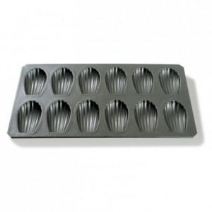 Plaque de 12 madeleines L 80 mm en Exopan