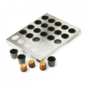Plaque de 25 moules à cannelés Ø 45 mm H 45 mm en Exoglass