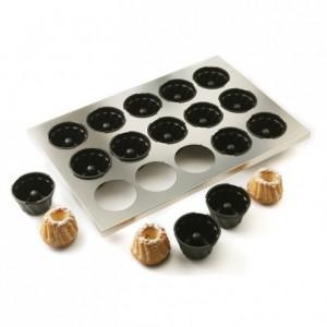 Plaque de 15 moules à mini kouglofs en Exoglass