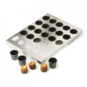 Plaque de 30 moules à cannelés Ø 35 mm H 35 mm en Exoglass
