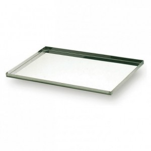 Oven sheet with lip stainless steel 600 x 400 mm