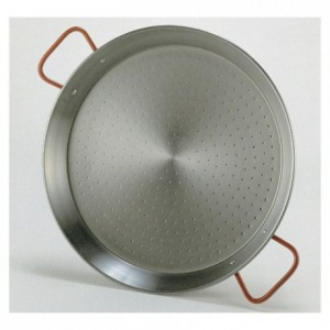 Paella pan polished steel Ø 320 mm