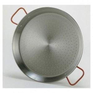 Plat à paella acier poli Ø 700 mm