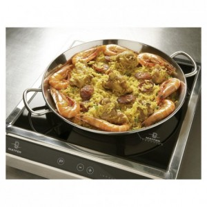 Paella pan stainless steel Ø 360 mm