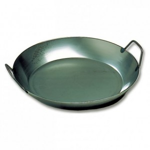 Paella pan black steel Ø 400 mm