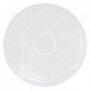 Plat diviseur à gâteau naturel PP Ø370 mm (lot de 3)
