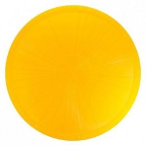 Plat diviseur à gâteau jaune PP Ø370 mm (lot de 3)