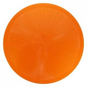 Plat diviseur à gâteau orange PP Ø370 mm (lot de 3)