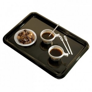 Lunch tray black (50 pcs)
