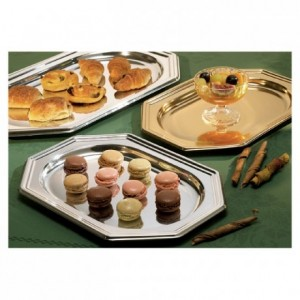 Octogonal tray gold (50 pcs)