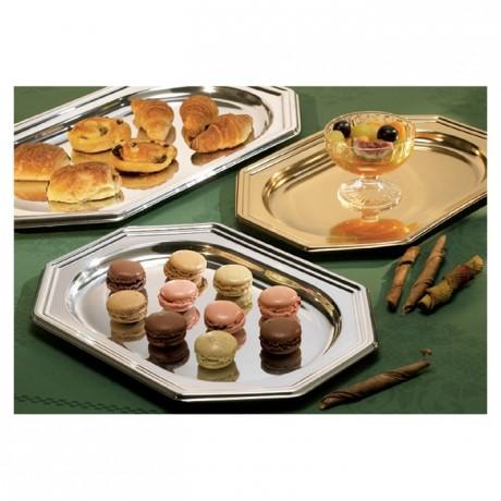 Octogonal tray gold (50 pcs)