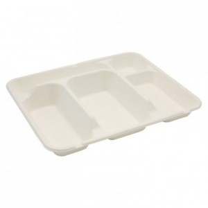 5 compartments fibre tray (200 pcs)
