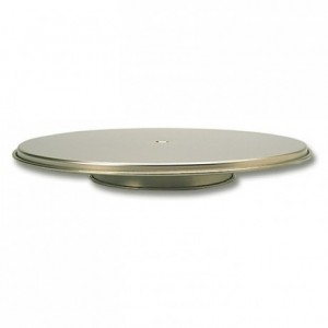 Revolving cake stand stainless steel Ø 300 mm
