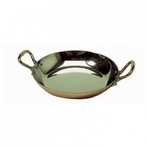 Round dish with handles tin-plated copper Ø 120 mm