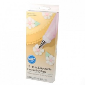 Wilton Disposable Decorating Bags 40cm pk/12