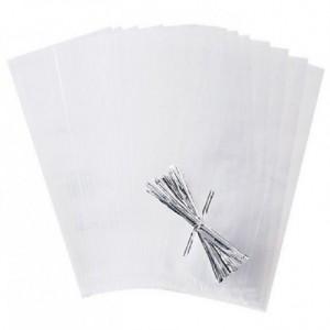 Poches Wilton plastique avec ruban transparentes 25 pièces