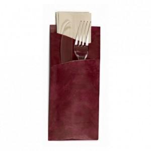 Pochette couverts Libra avec serviette (lot de 150)