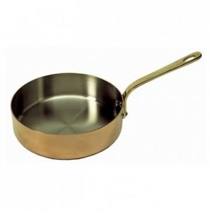 Poêle ovale Elegance cuivre/inox L 300 mm