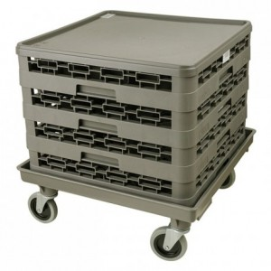 Stainless steel handle for trolley for trays 510 x 760 mm
