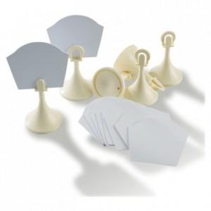 Porte-étiquette polypropylène ivoire H 65 mm (lot de 6)