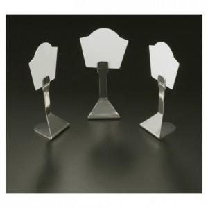 Porte-étiquettes inox H 85 mm (lot de 6)