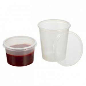 Coulis round container 30 cL (500 pcs)