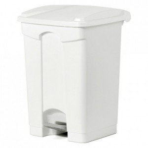 Trash bin with pedal-operated lid 45 L