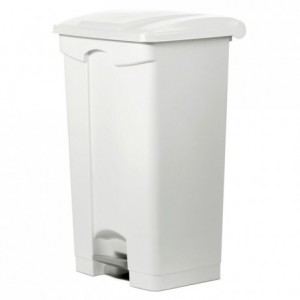 Trash bin with pedal-operated lid 90 L