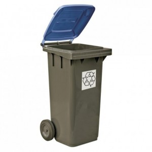 Recycling bin blue 120 L
