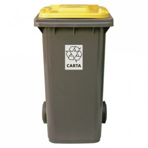 Recycling yellow bin 120 L