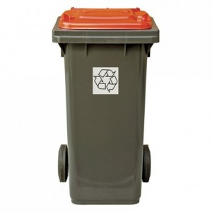 Recycling red bin 120 L