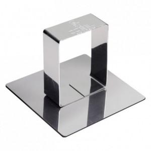 Poussoir carré inox 68x68 mm (lot de 6)