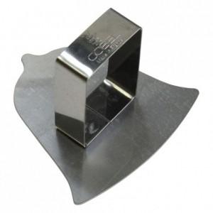 Poussoir cloche inox 70x70 mm (lot de 6)