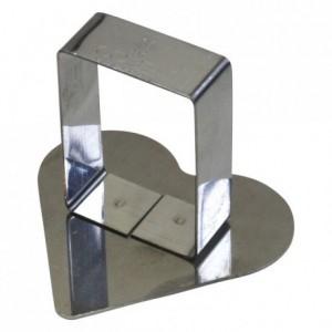 Poussoir coeur inox 63x57 mm (lot de 6)
