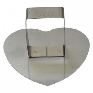 Poussoir coeur bombé inox 83x75 mm (lot de 6)