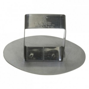 Poussoir ovale inox 72x42 mm (lot de 6)