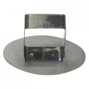 Poussoir ovale inox 100x60 mm (lot de 6)