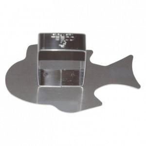 Poussoir poisson tropical inox 98x60 mm (lot de 6)