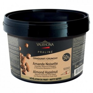 Almond Hazelnut Fruity and Crunchy Praliné 50% nuts 5 kg